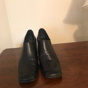 Franco Sarto black leather ankle boot